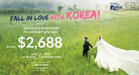 Korean Indoor & Outdoor Pre-wedding Promotion