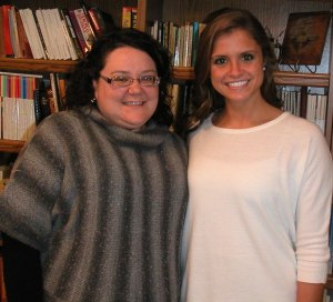 """Brianna Schwenk and Lyndsey Reis, pianist and vocalist for the Catherine McAuley Center's webpage song, """"Feels Like Home"""" originally by Randy Newman"""