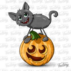 Cat Jack-o-Lantern design
