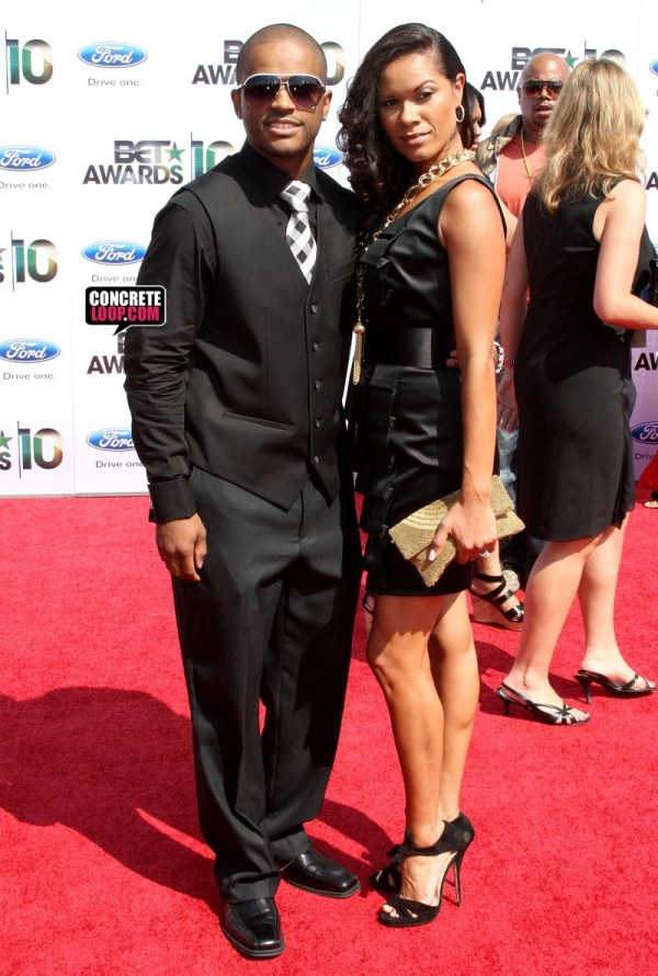 Larenz Tate and Wife