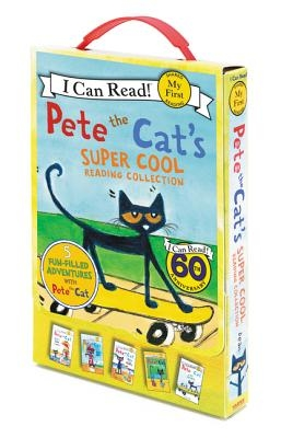 Pete the Cat's Super Cool Reading Collection: Too Cool for School/Play Ball!/Pete at the Beach/Pete's Big Lunch/A Pet for Pete
