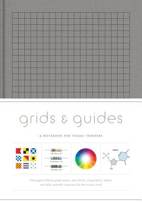 Grids & Guides (Gray): A Notebook for Visual Thinkers (Blank Deluxe Clothbound Journal with Grid, Dot, and Graph Patterns, Great Gift for Des