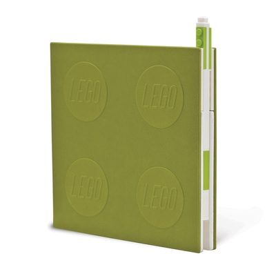 Lego 2.0 Locking Notebook with Gel Pen - Lime