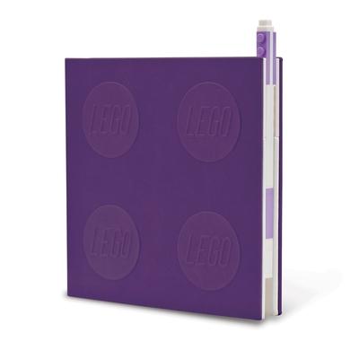 Lego 2.0 Locking Notebook with Gel Pen - Lavender