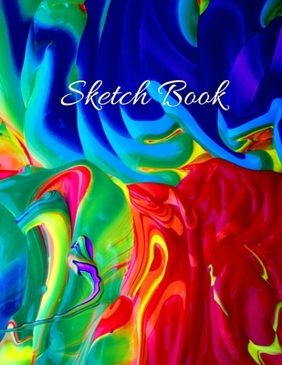 Sketch Book: Large Artistic Creative Colorful Notebook for Drawing, Writing, Painting, Sketching or Doodling - Gift Idea for Artist