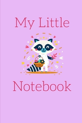 My Little Notebook: Small Pink Raccoon Themed College Ruled Notebook