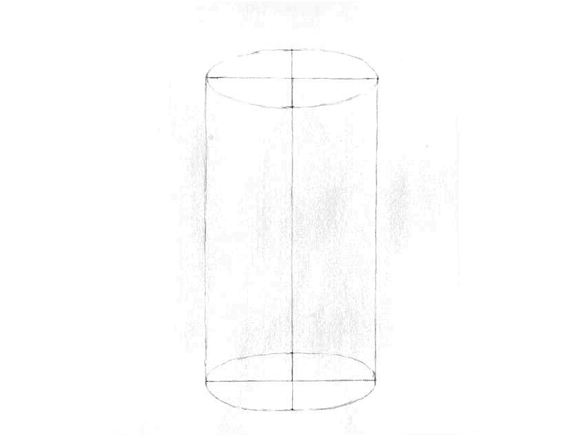 como desenhar um cilindro com lápis