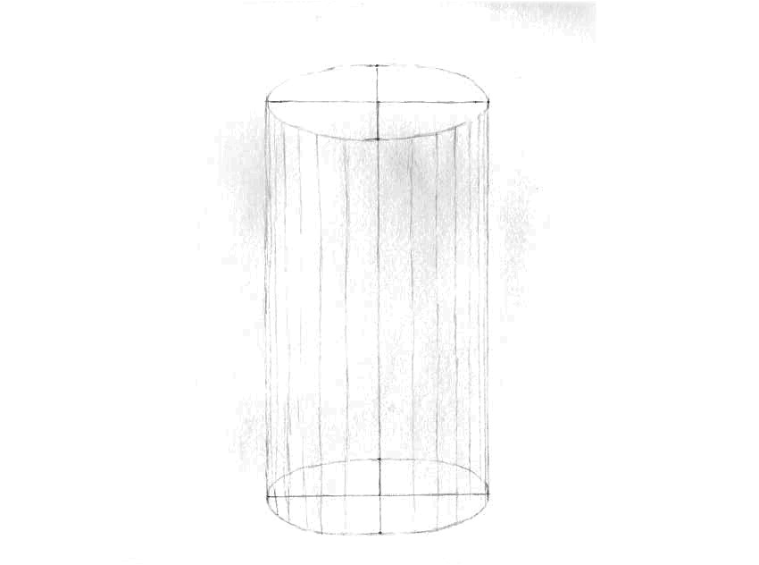 como desenhar um cilindro em 3d