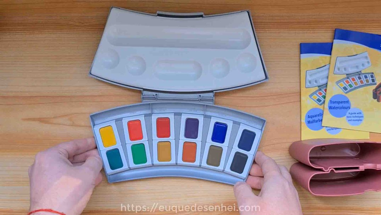 Estojo de 12 cores da aquarela Pelikan