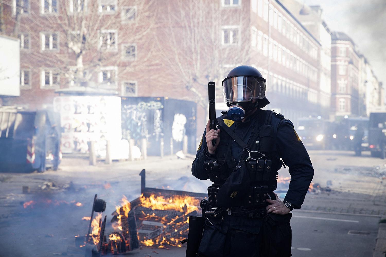 Gadekampe efter Stramkurs Demonstration