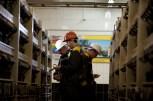 Predko GLEB: Miners adjusting equipment at coal mine Stepnaya (Ukraine)