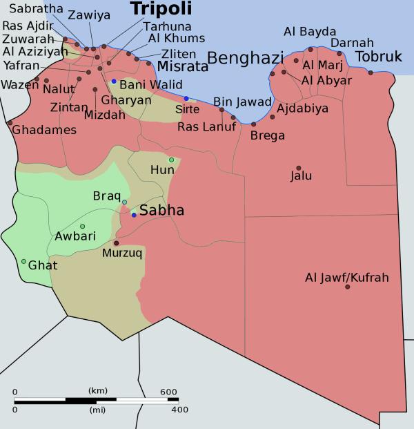 Libya Civil War Map - Year of Clean Water