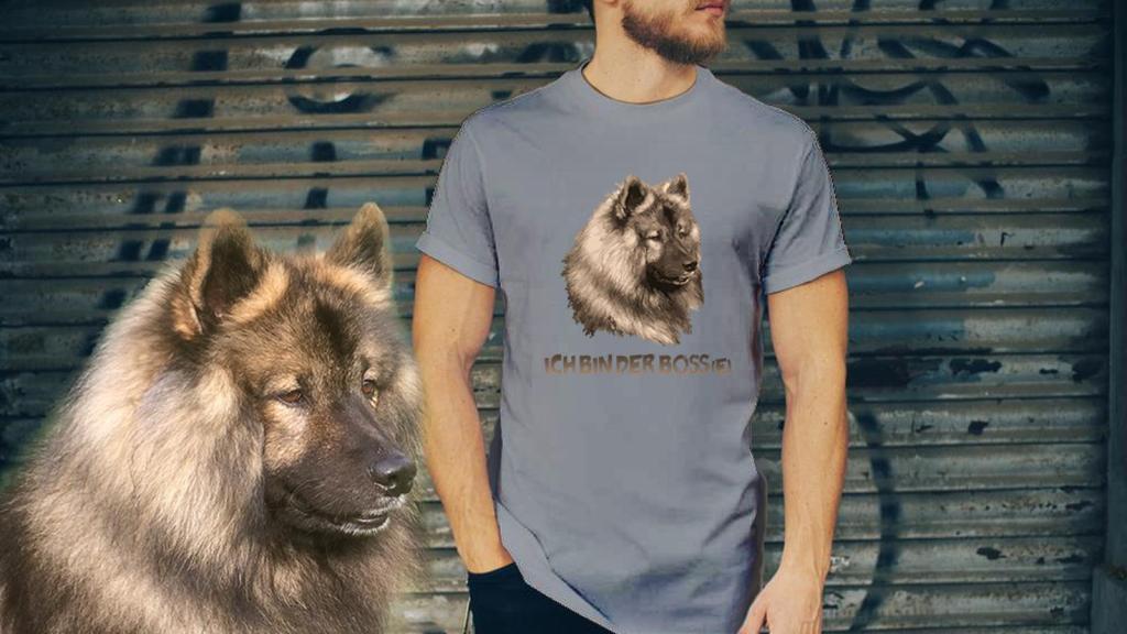 Eurasier-T-Shirt-Auftragsarbeit - Individuelle Eurasier Motive