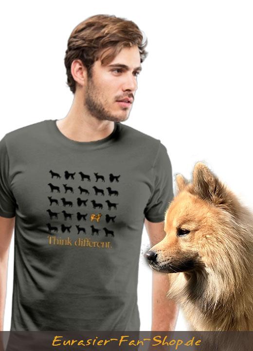Think Different - Eurasier T-Shirt für Männer