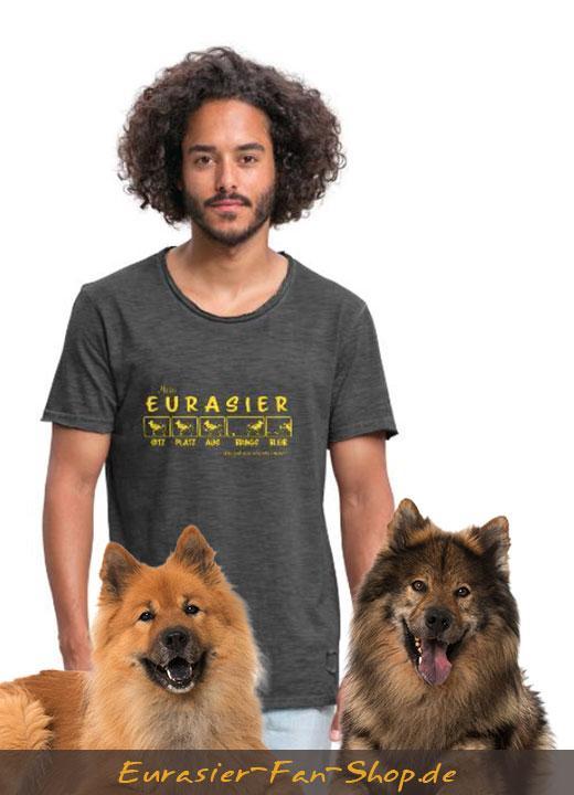 Eurasier T-Shirt für Männer - Eurasier Kommandos
