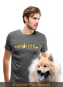 Eurasier T-Shirt Männer - Alien Eurasier