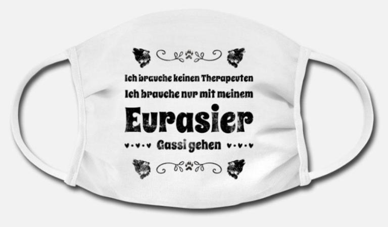 Eurasier Gesichtsmaske Corona Mundschutz