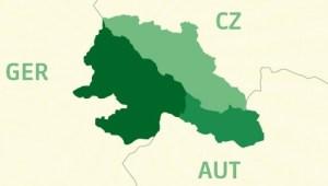 Karte EUREGIO AUT/CZ/GER