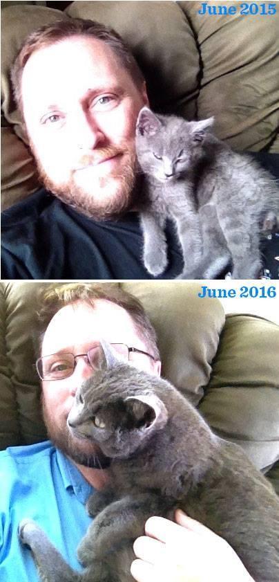 子猫の今と昔