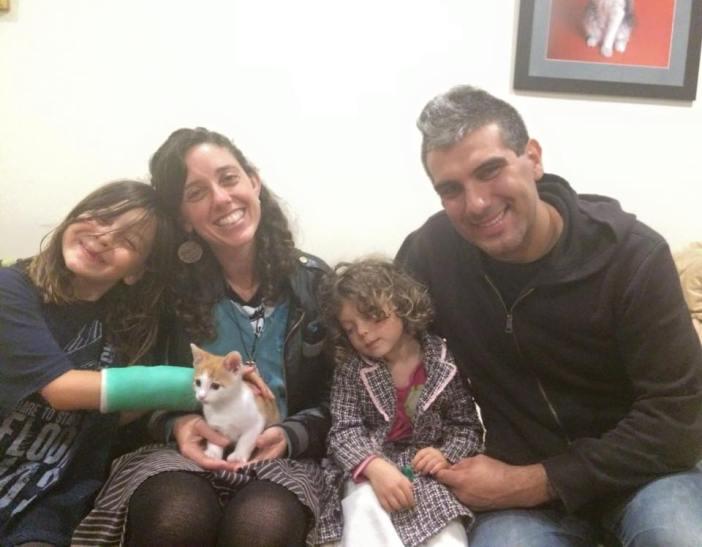 家族と子猫