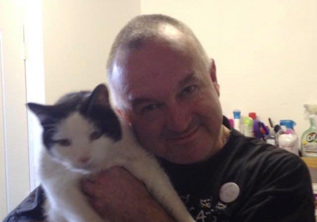 おじさんと猫