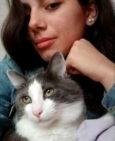 飼い主さんと猫