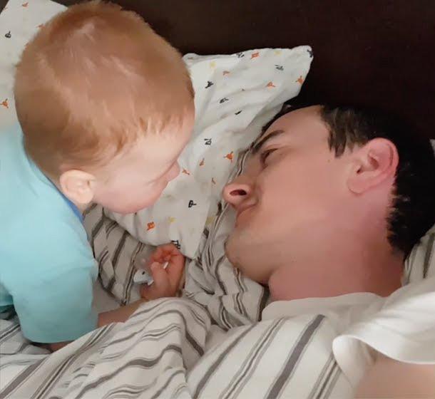 赤ちゃんと飼い主さん