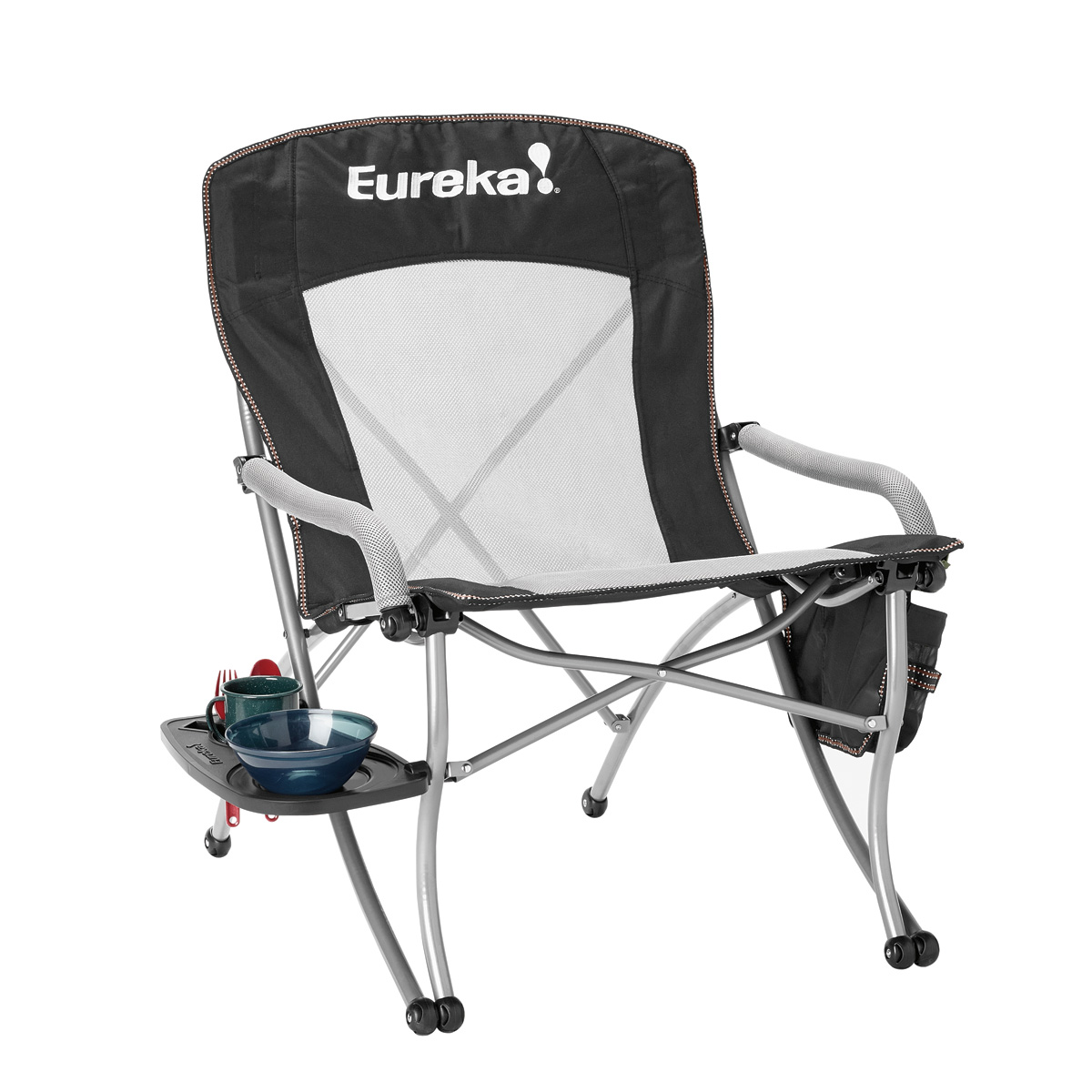 outdoor folding chair with side table hydraulic lift curvy eureka
