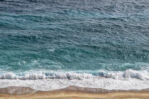 sea, waves, sand