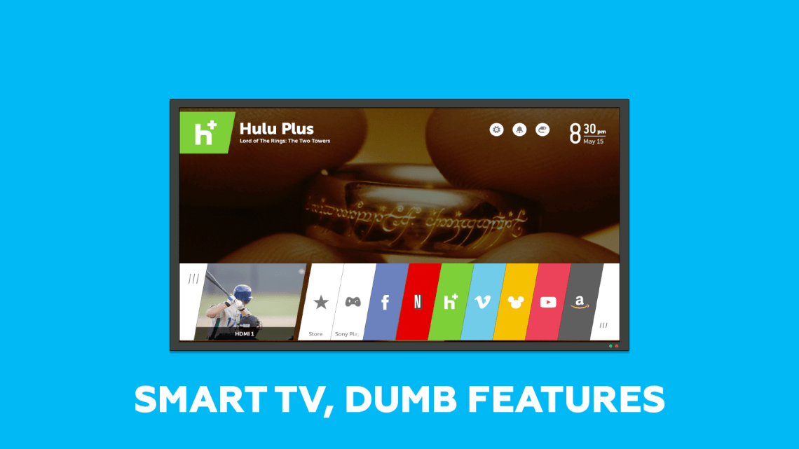 Smar tvs and dumb features
