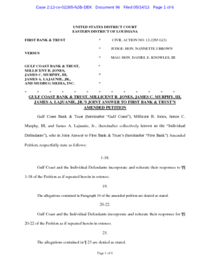 first-bank-and-trust-vs-gulf-coast-bank-and-trust-answer-to-amended-complaint-gulf-coast