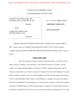 scienton-technologies-inc-vs-computer-associates-international-inc-amended-complaint