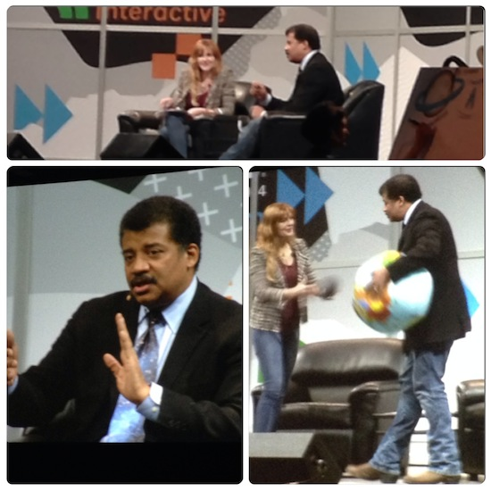 Christie Nicholson and Neil deGrasse Tyson at SXSW Interactive 2014