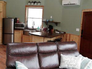 Yurt living room - kitchen