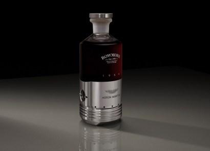 A_4_Black_Bowmore_DB5_Bottle_Three_Quarter