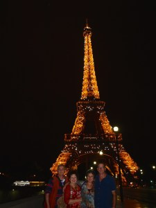 Ian, Lisette, Gillian and Graham, Paris