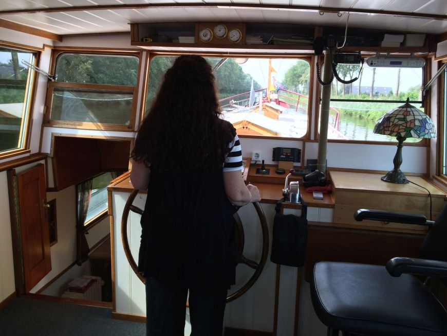 Lisette at the Helm