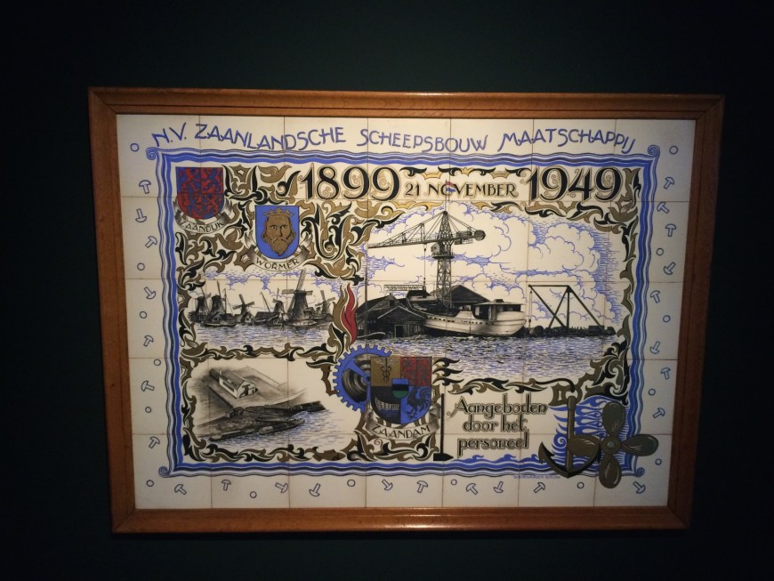 Commemorative tile tableau for the shipbuilder that built Catharina.