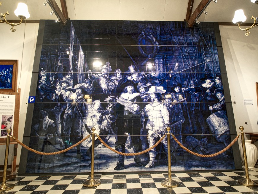 'Night's Watch' in Delft Blue tiles
