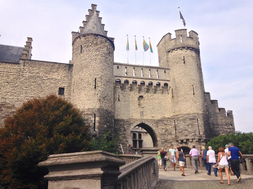 The entrance to Het Steen castle - the oldest building in Antwerp