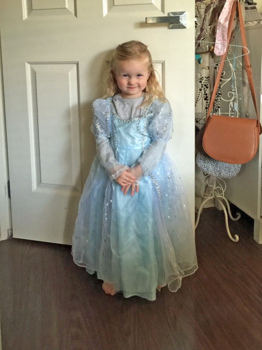 Significant set of repairs needed to bring this very much worn princess dress back to new look for Charlie