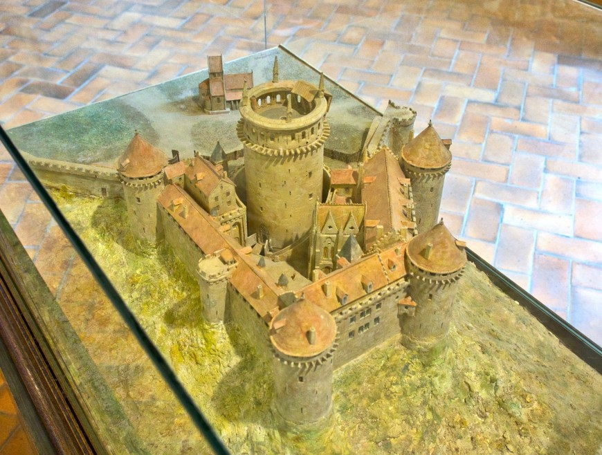 Maquette of the keep in its heyday.