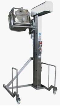 Подъемник опрокидыватель передвижной для тележек (чебурашек)