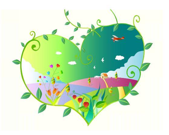 День Святого Валентина с любовью к окружающей среде.