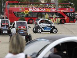 Барселона из окна электромобиля