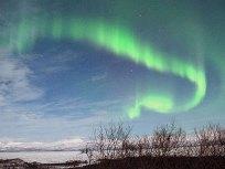 В Лапландии отказались от освещения, чтобы наблюдать за северным сиянием