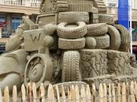 Величественные скульптуры из песка украсили двор Дублинского замка