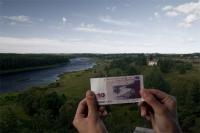 Обмен латов на евро успешно проходит в Латвии