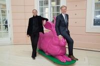 Розовый пасхальный кролик Альбрехта Дюрера появился на улицах Вены