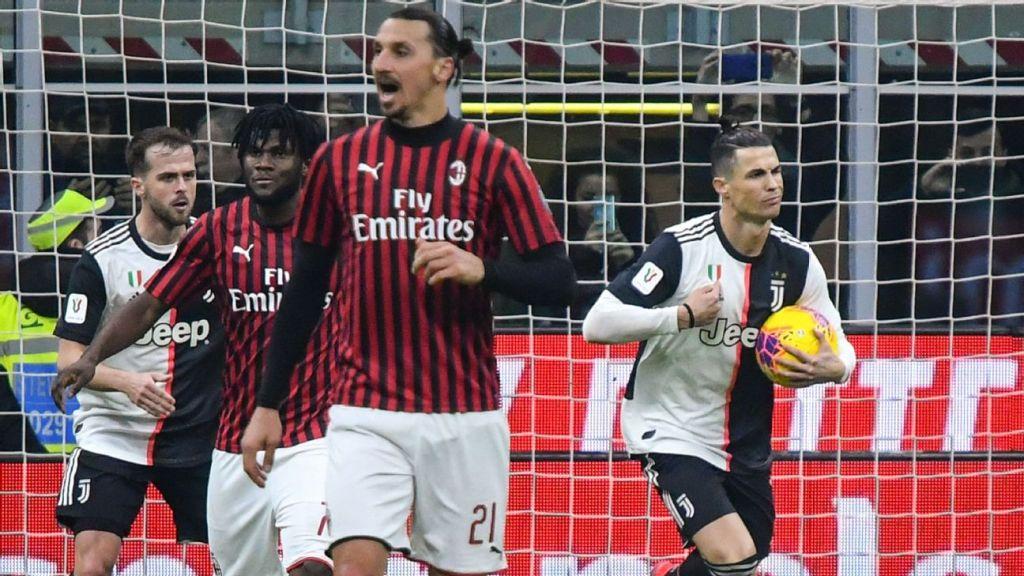 Italian Cup: Juventus-Milan, Napoli-Inter to resume June 12-13